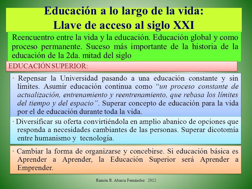 Educación a lo largo de la vida: Llave de acceso al siglo XXI