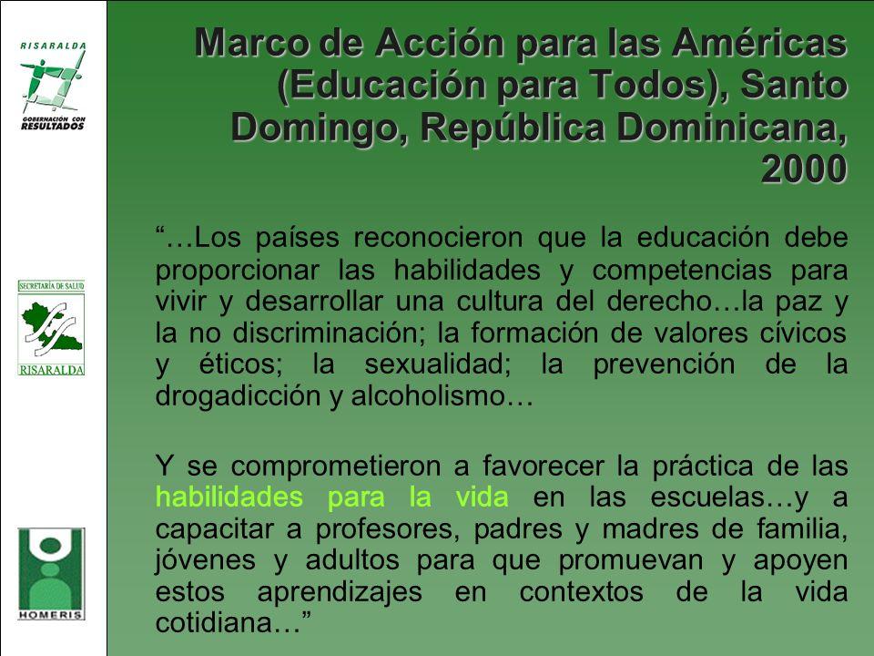 Marco de Acción para las Américas (Educación para Todos), Santo Domingo, República Dominicana, 2000