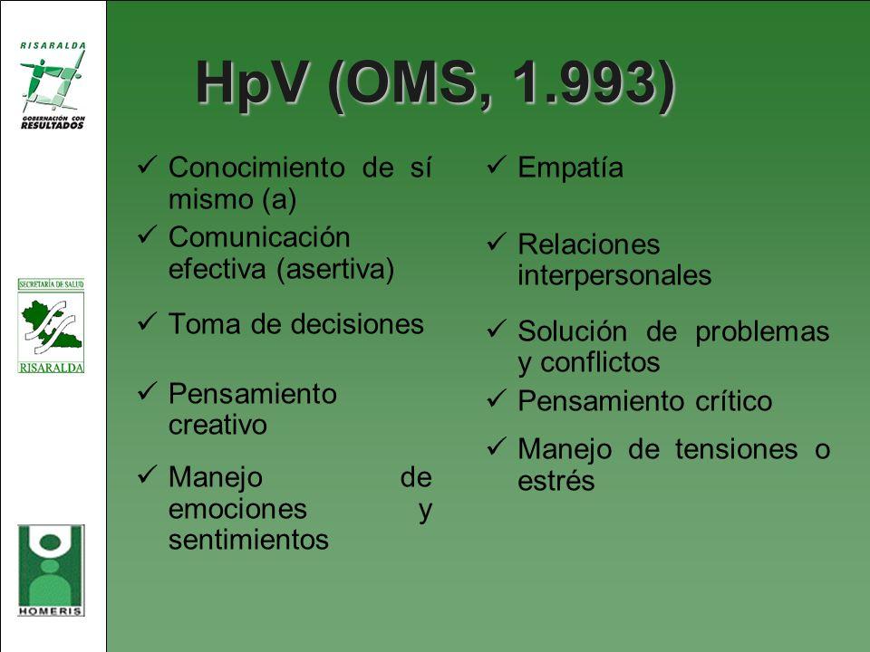 HpV (OMS, 1.993) Conocimiento de sí mismo (a)
