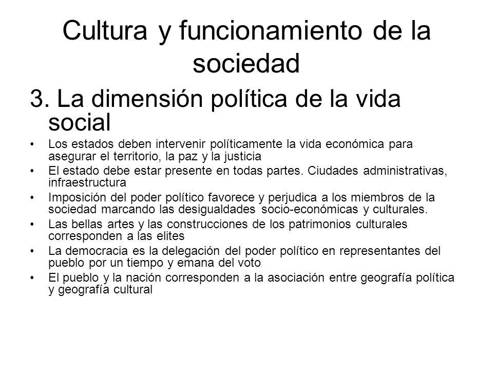 Cultura y funcionamiento de la sociedad