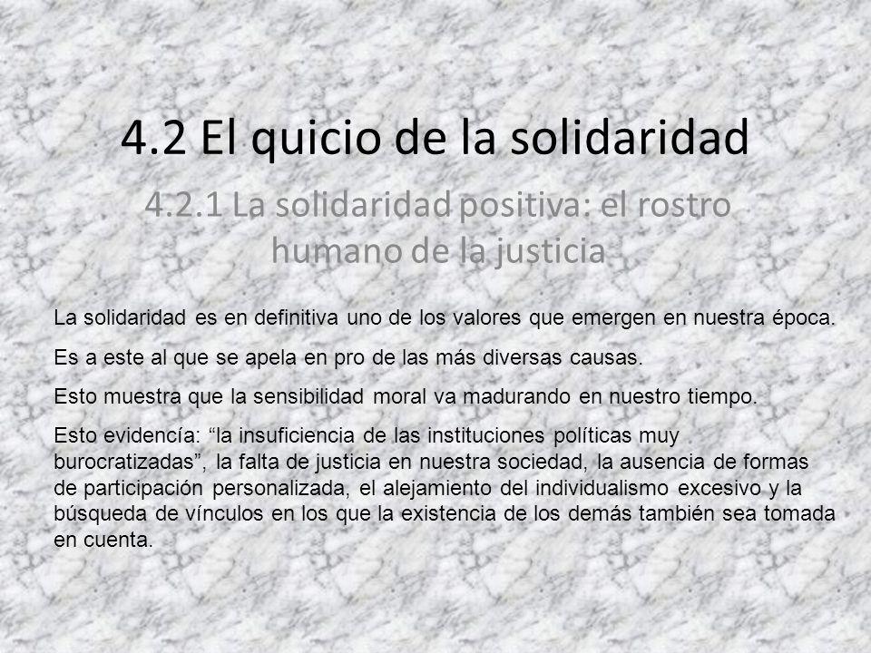 4.2 El quicio de la solidaridad