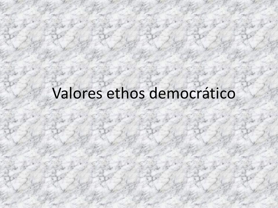 Valores ethos democrático