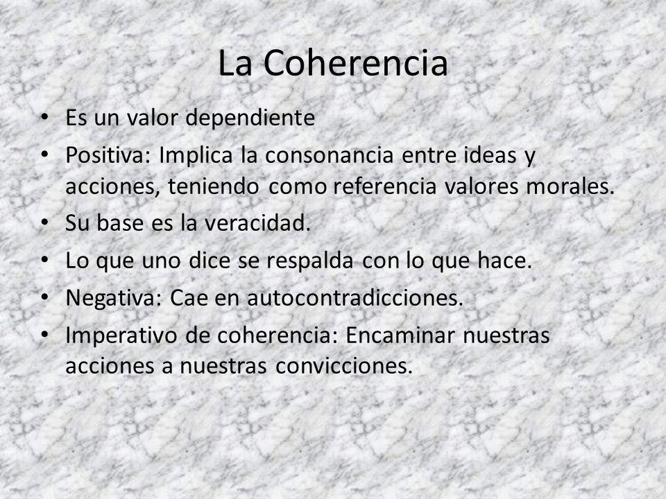 La Coherencia Es un valor dependiente