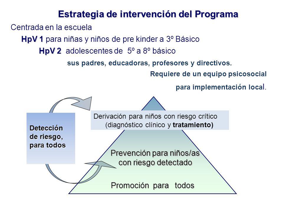 Estrategia de intervención del Programa