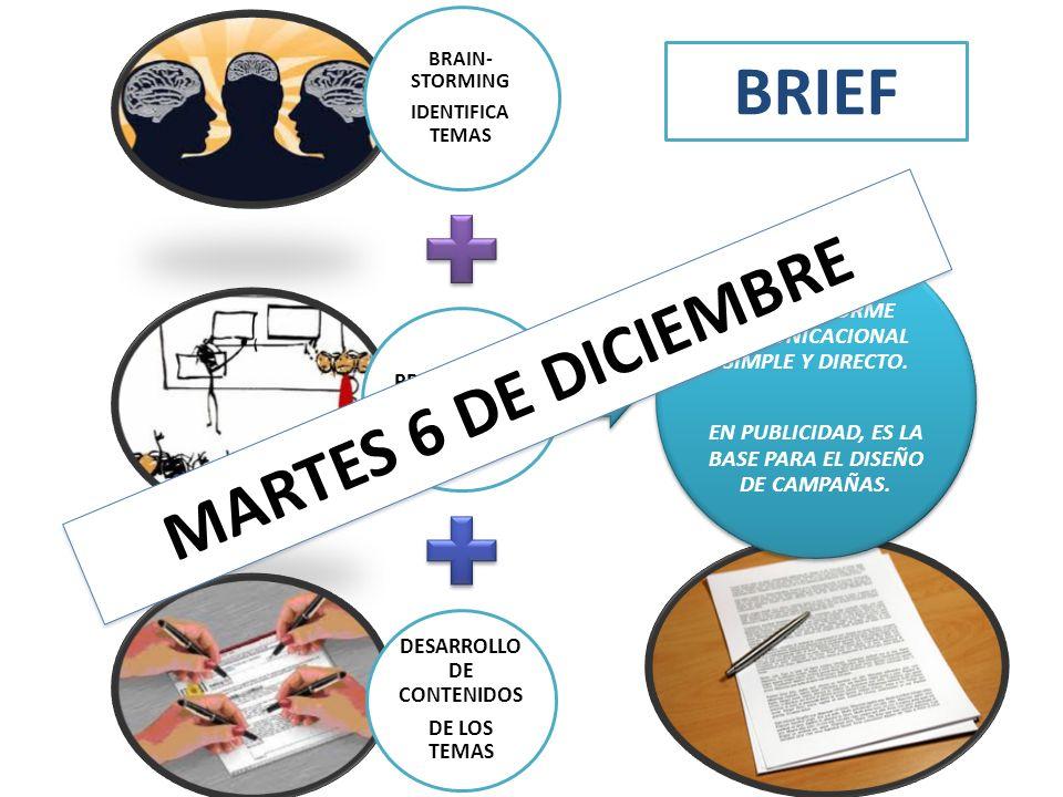 BRIEF MARTES 6 DE DICIEMBRE