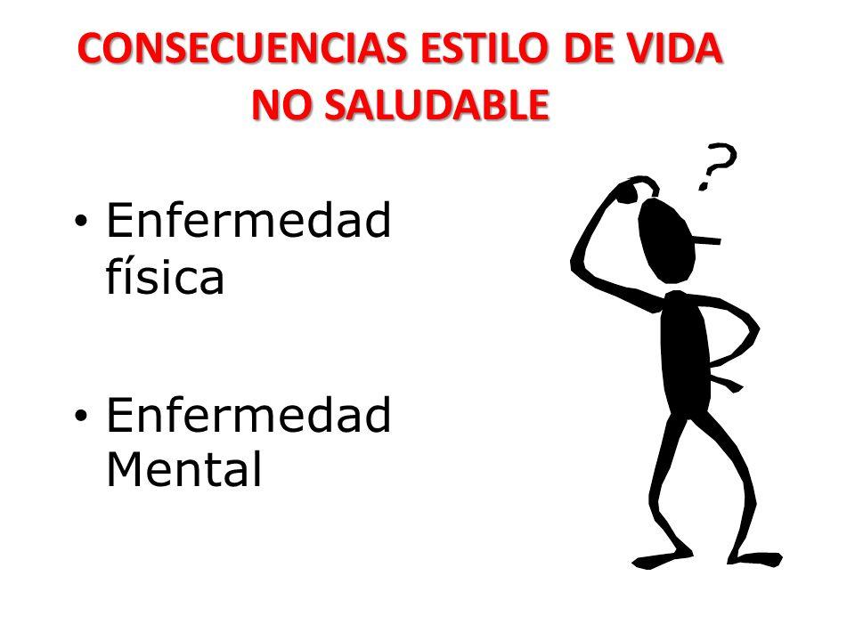 CONSECUENCIAS ESTILO DE VIDA NO SALUDABLE