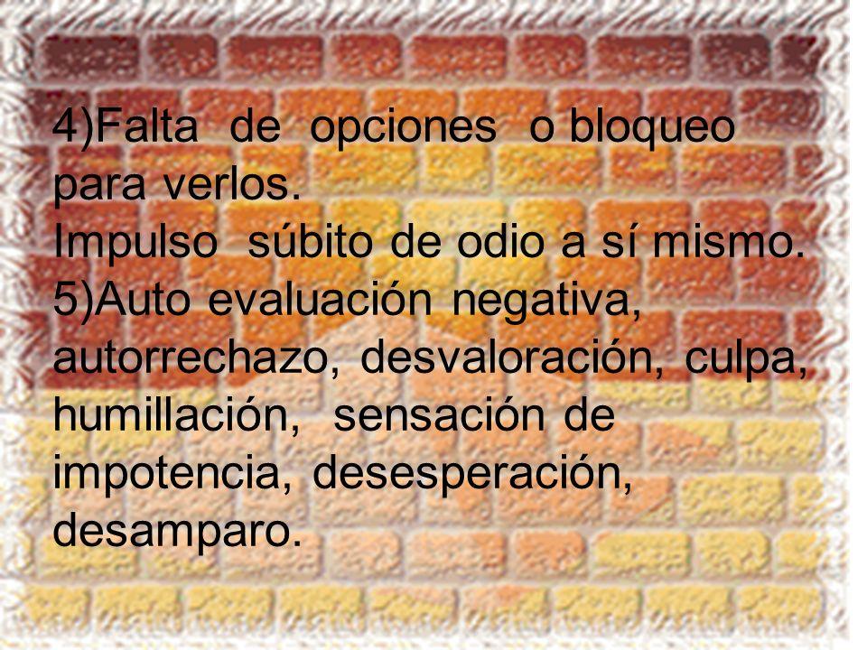 4)Falta de opciones o bloqueo para verlos
