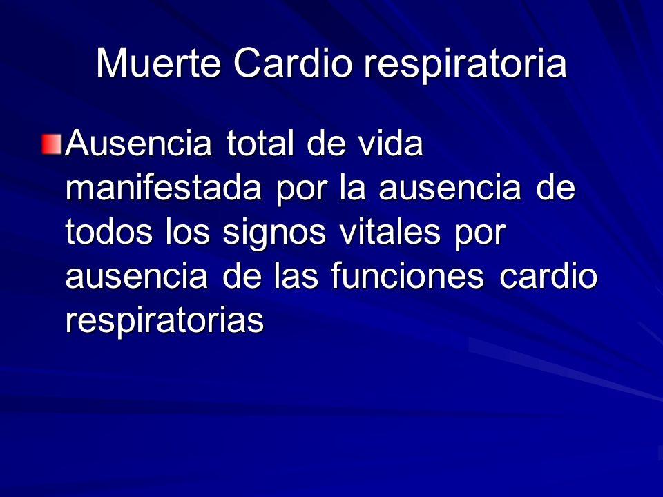 Muerte Cardio respiratoria