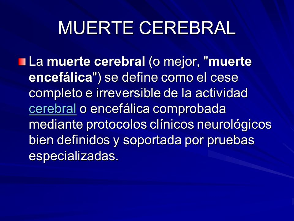 MUERTE CEREBRAL