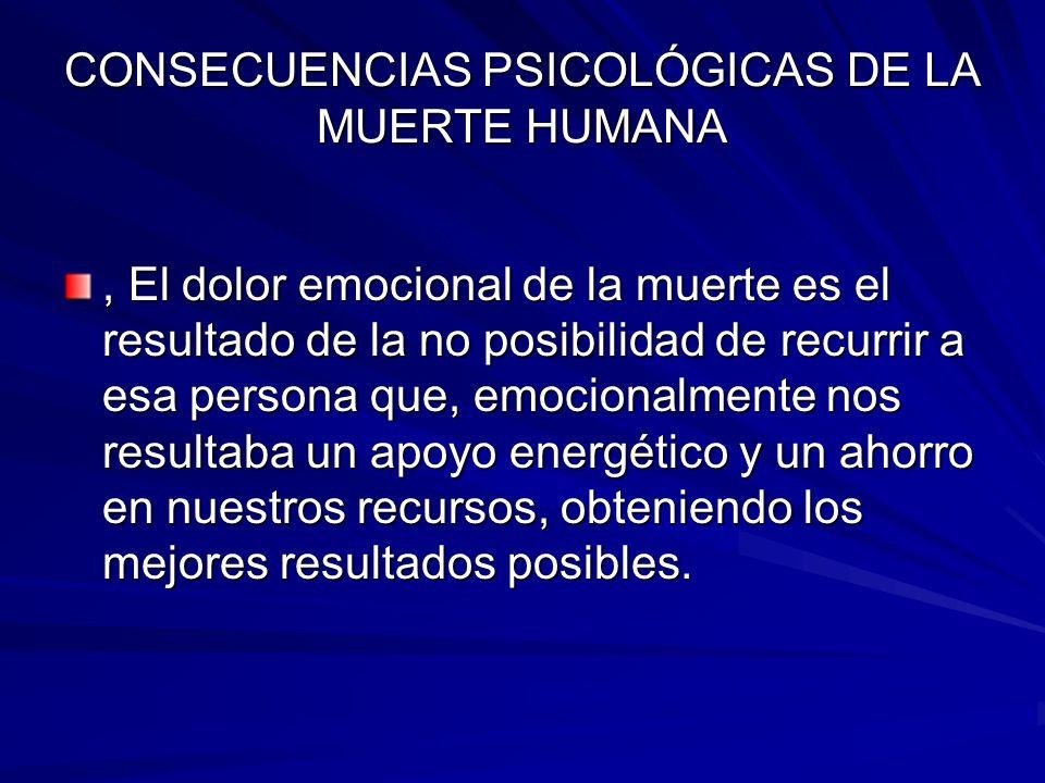 CONSECUENCIAS PSICOLÓGICAS DE LA MUERTE HUMANA