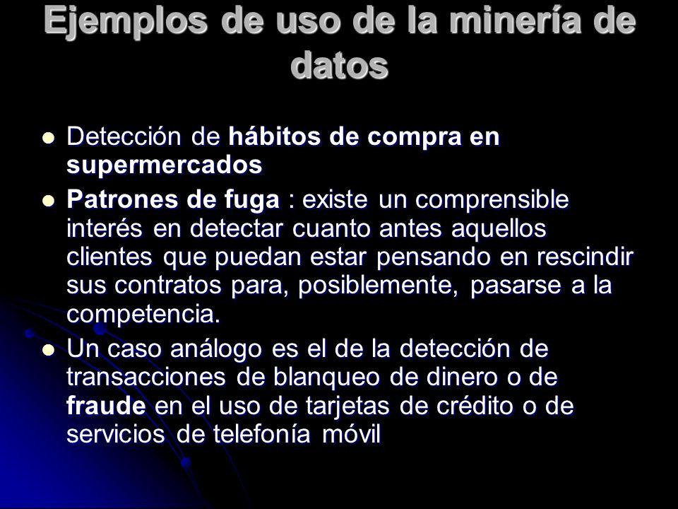 Ejemplos de uso de la minería de datos