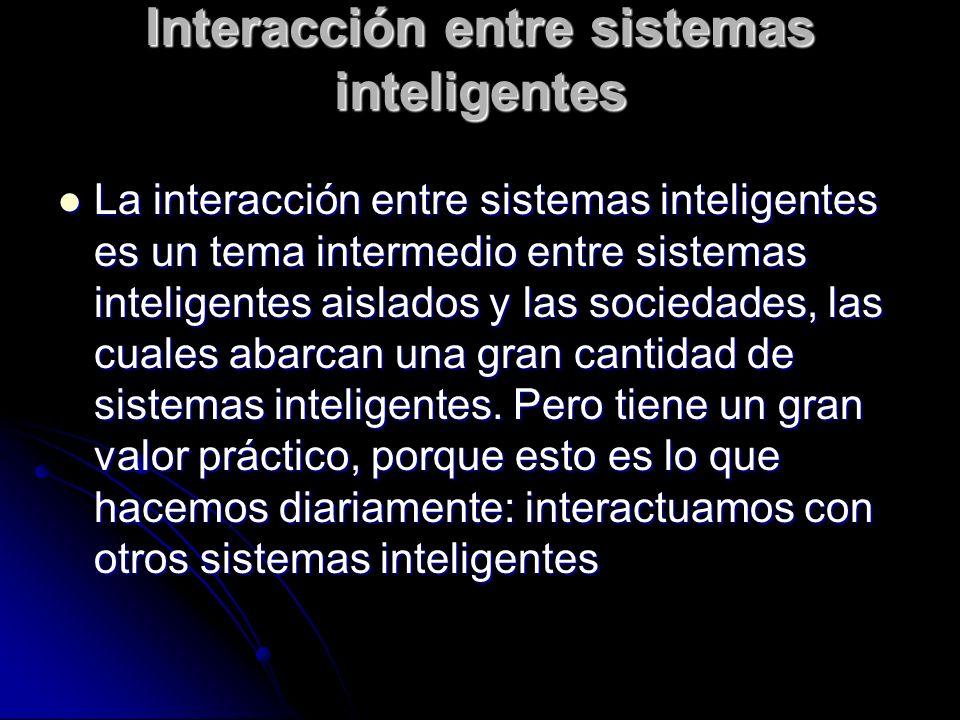 Interacción entre sistemas inteligentes