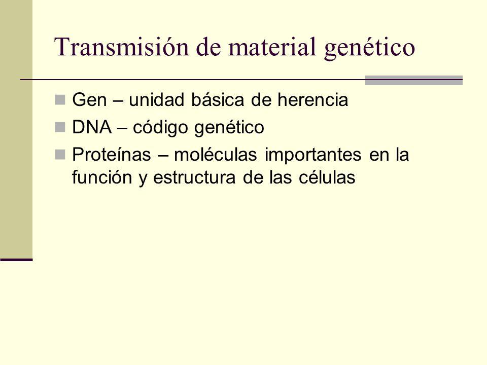 Transmisión de material genético