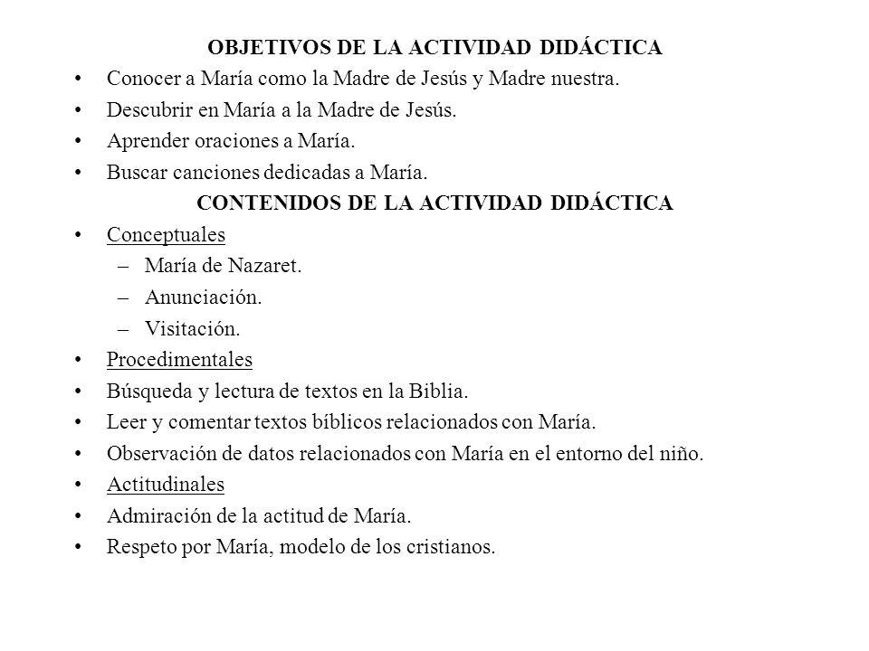 OBJETIVOS DE LA ACTIVIDAD DIDÁCTICA