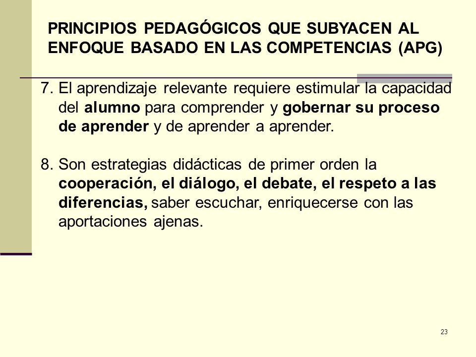 PRINCIPIOS PEDAGÓGICOS QUE SUBYACEN AL