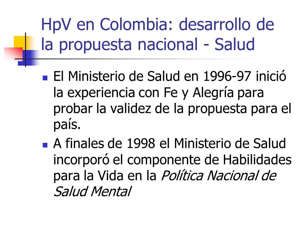 HpV en Colombia: desarrollo de la propuesta nacional - Salud