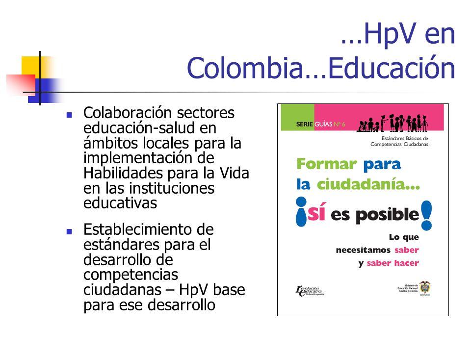 …HpV en Colombia…Educación
