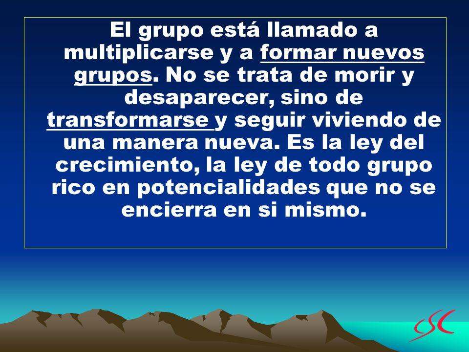 El grupo está llamado a multiplicarse y a formar nuevos grupos