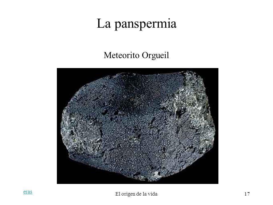 La panspermia Meteorito Orgueil eras El origen de la vida