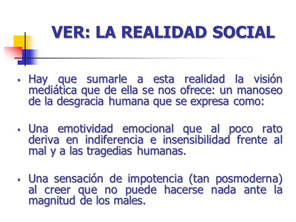 VER: LA REALIDAD SOCIAL