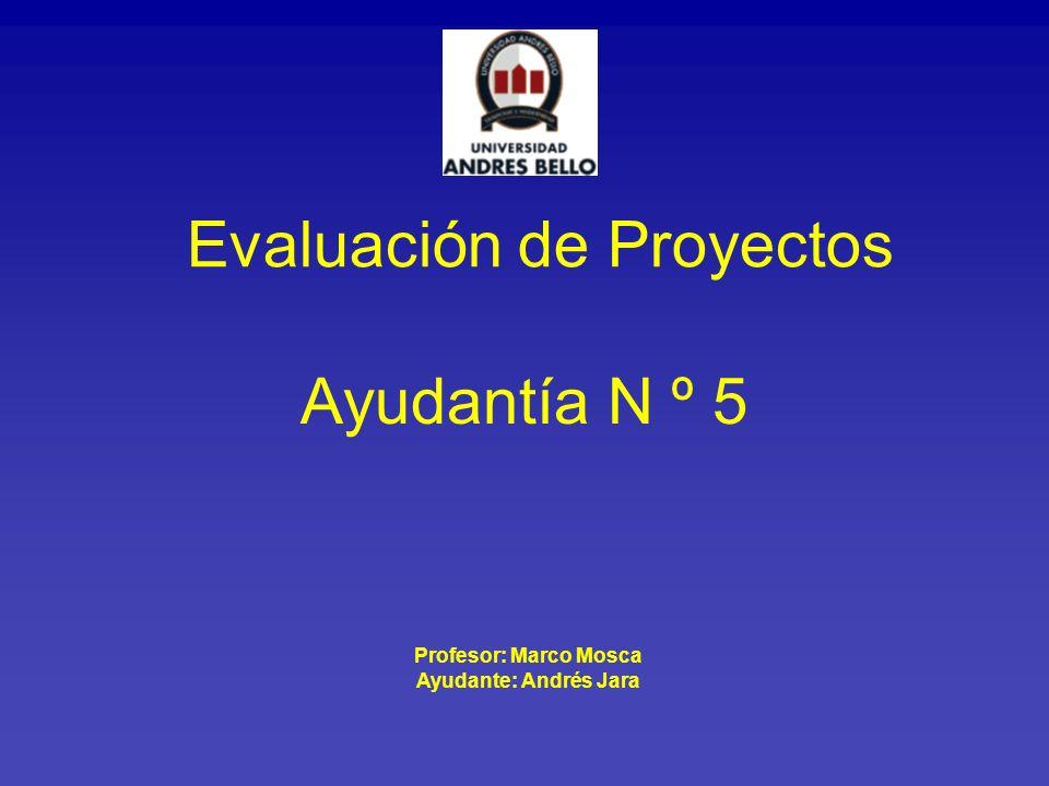 Profesor: Marco Mosca Ayudante: Andrés Jara