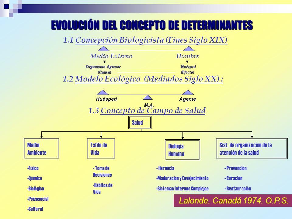 EVOLUCIÓN DEL CONCEPTO DE DETERMINANTES
