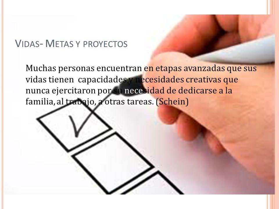 Vidas- Metas y proyectos