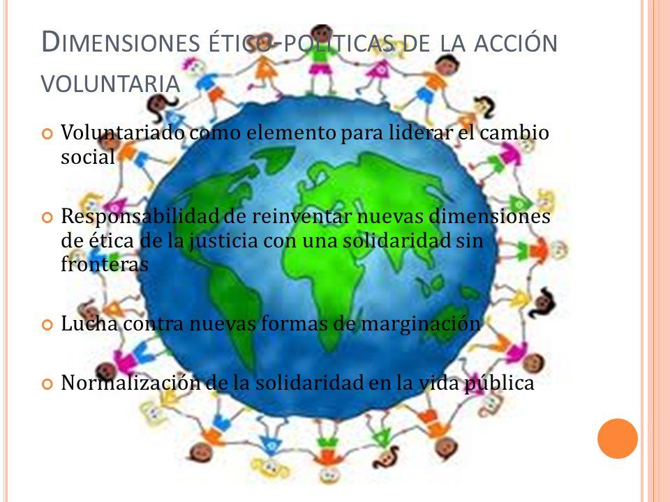 Dimensiones ético-políticas de la acción voluntaria