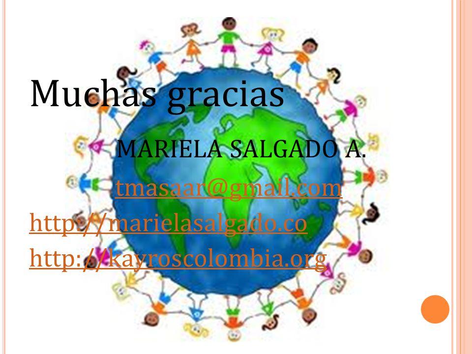 Muchas gracias MARIELA SALGADO A. tmasaar@gmail.com