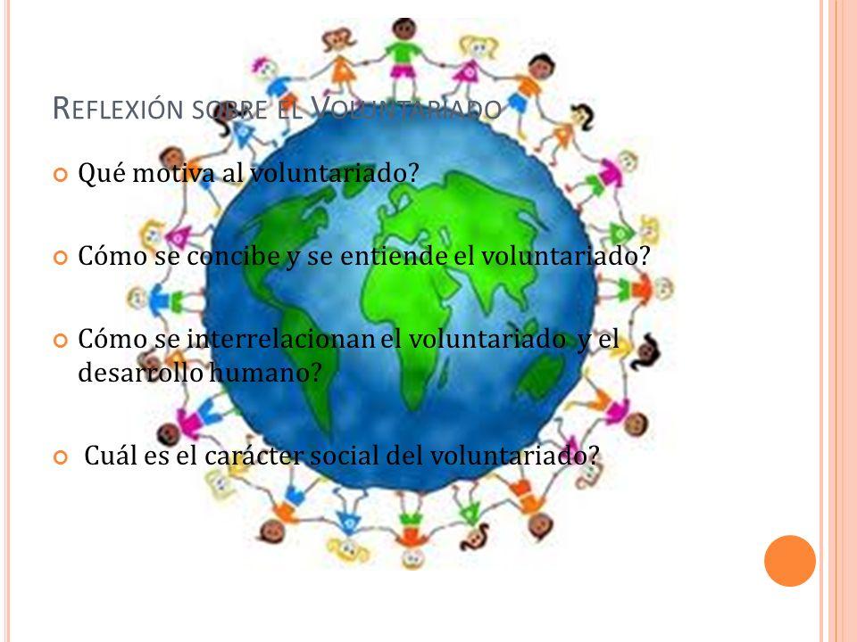 Reflexión sobre el Voluntariado