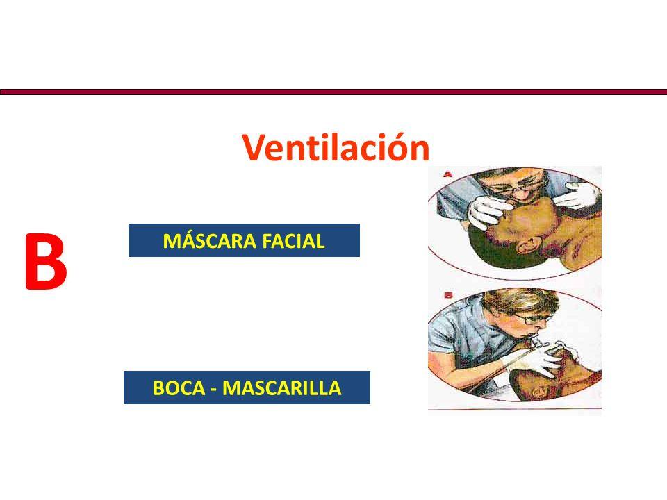 Ventilación B MÁSCARA FACIAL BOCA - MASCARILLA