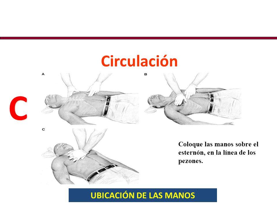C Circulación UBICACIÓN DE LAS MANOS