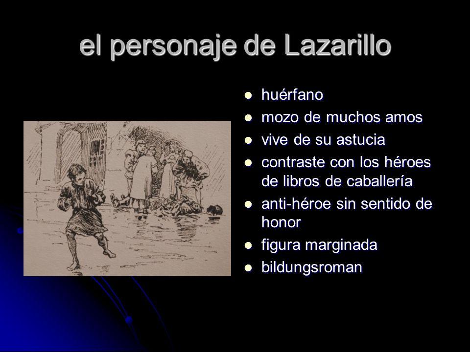 el personaje de Lazarillo