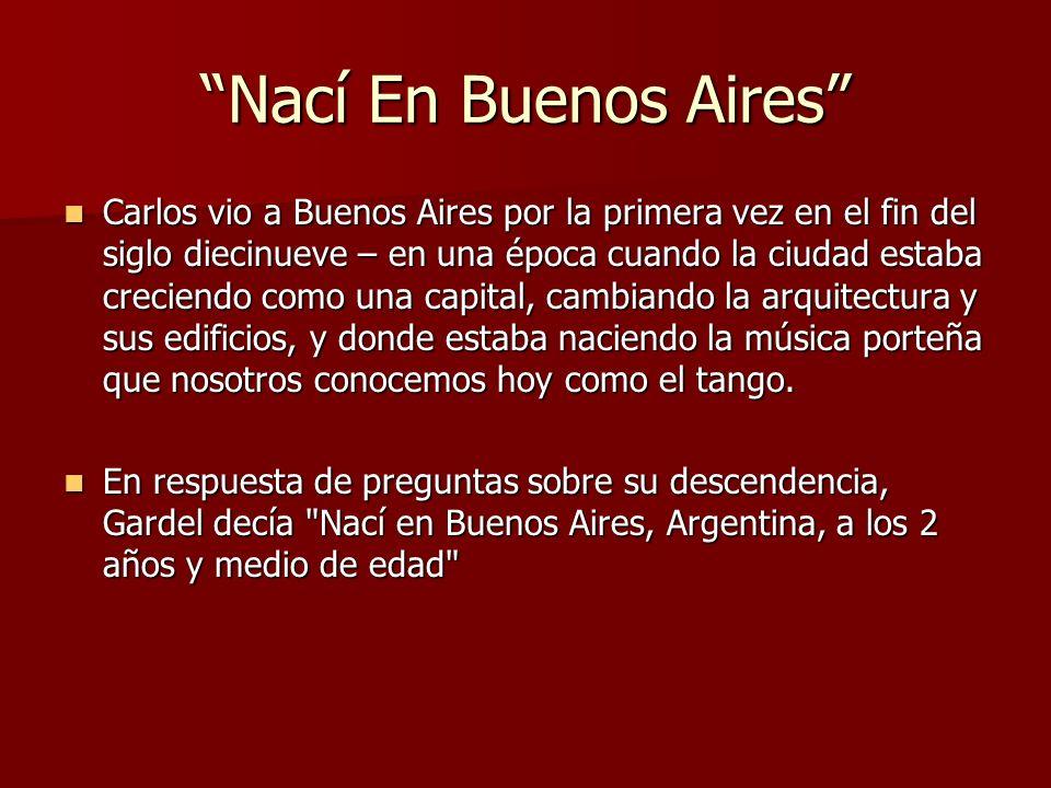 Nací En Buenos Aires