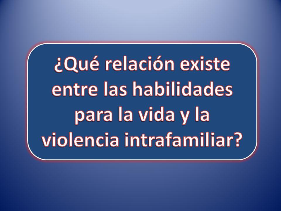 ¿Qué relación existe entre las habilidades para la vida y la violencia intrafamiliar