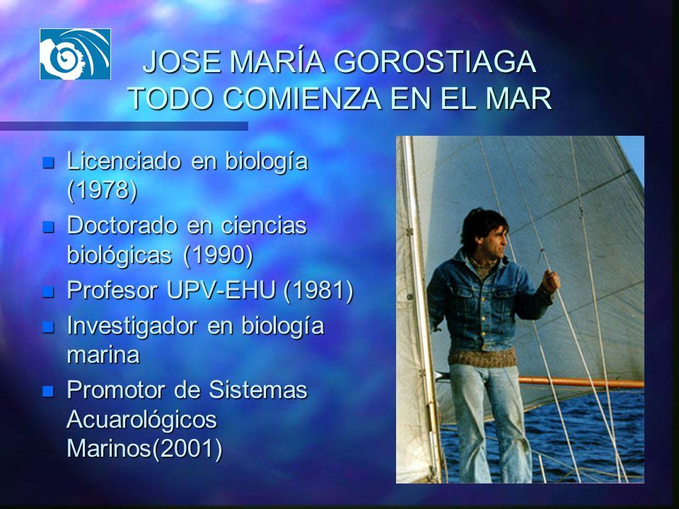 JOSE MARÍA GOROSTIAGA TODO COMIENZA EN EL MAR