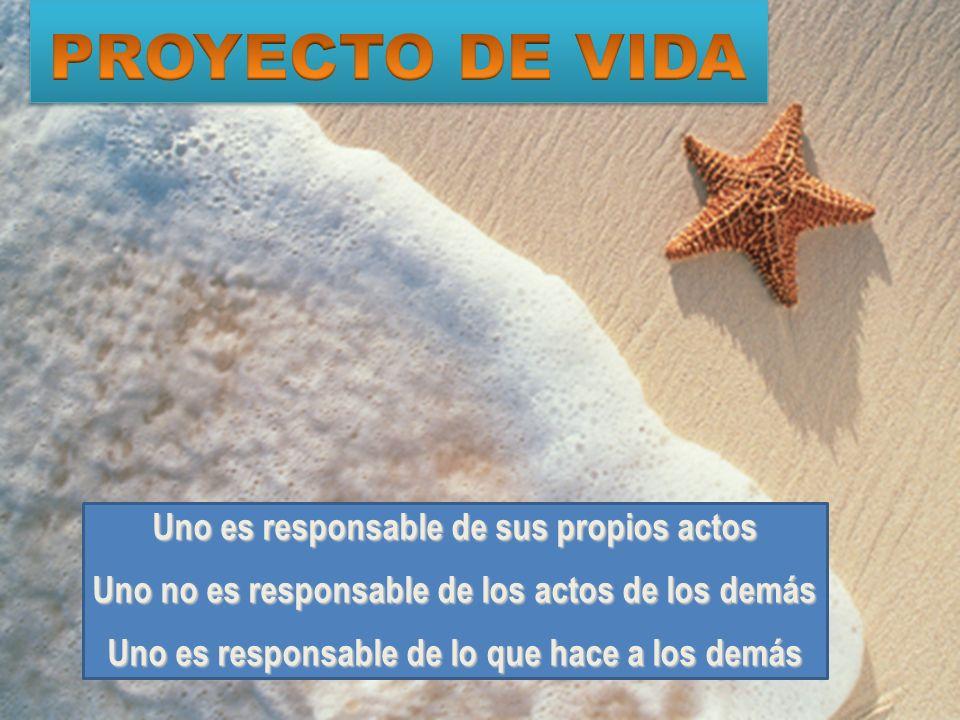 PROYECTO DE VIDA Uno es responsable de sus propios actos