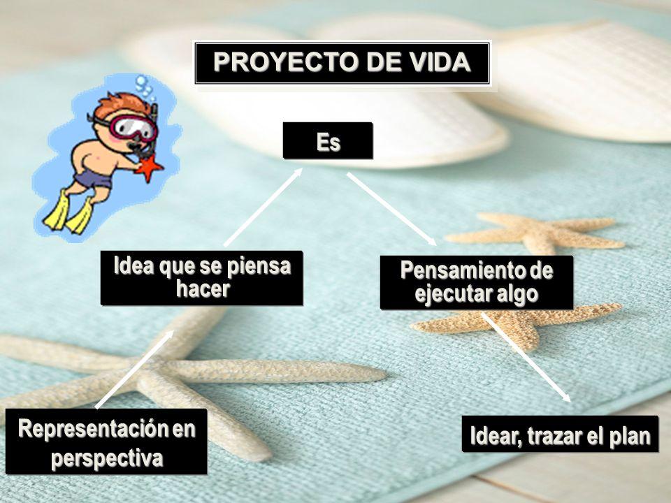 PROYECTO DE VIDA Es Idea que se piensa hacer