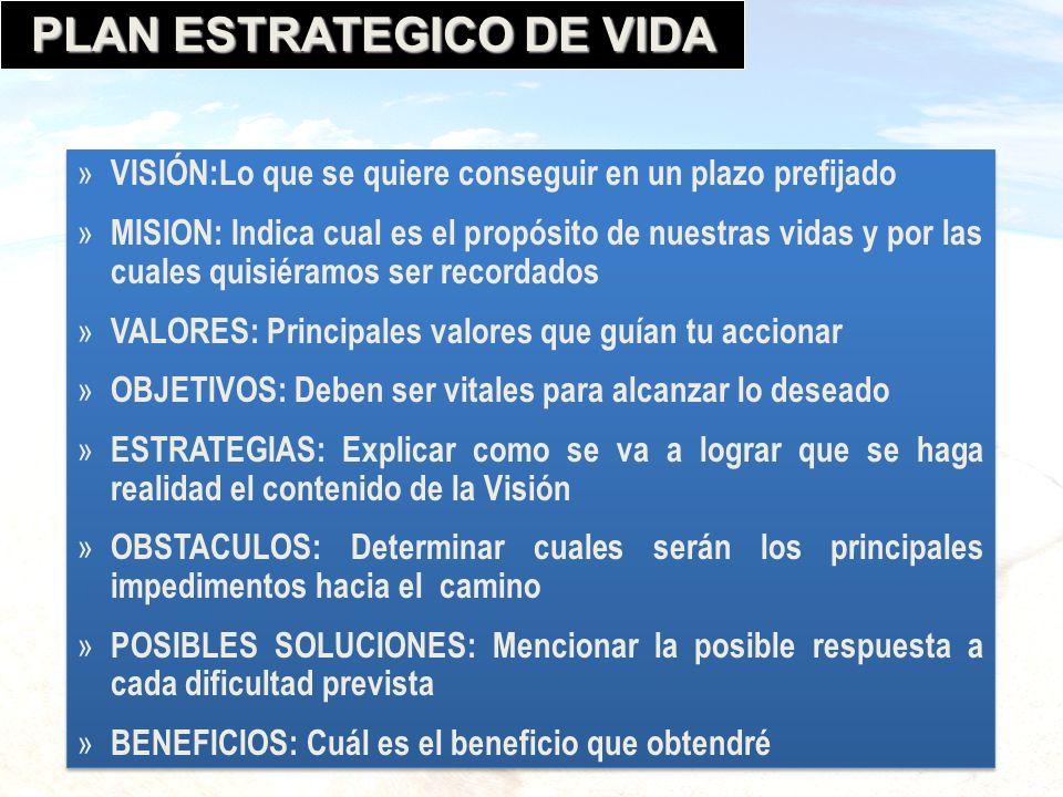 PLAN ESTRATEGICO DE VIDA