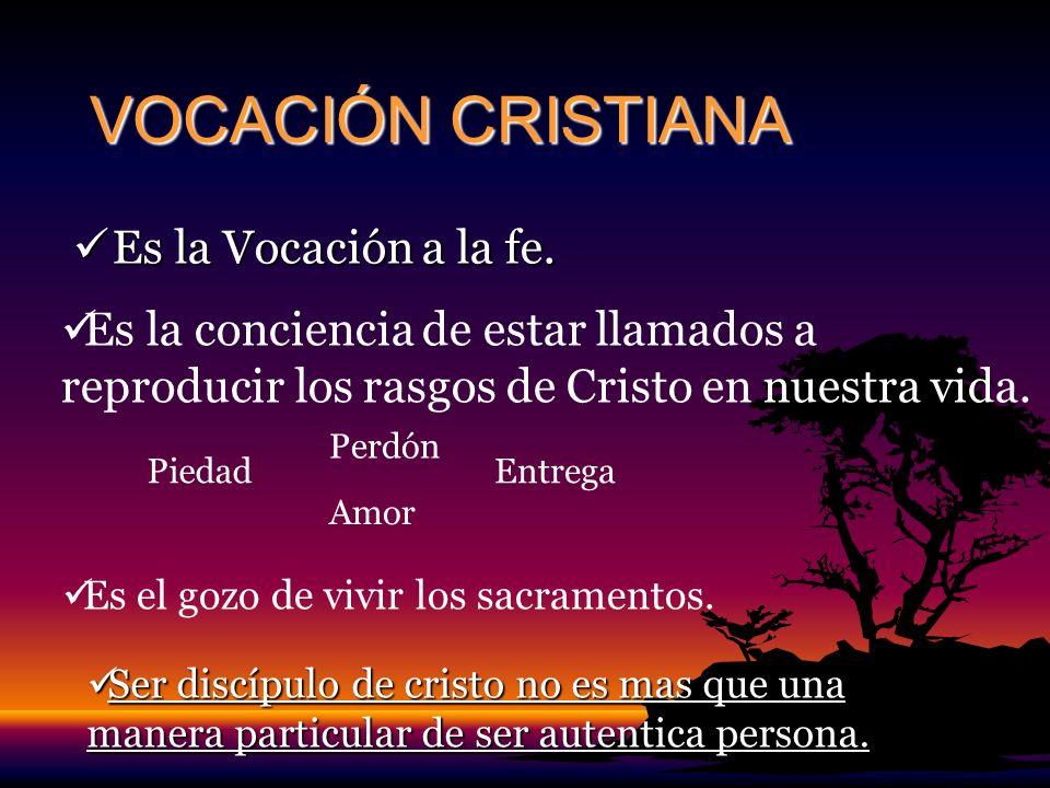 VOCACIÓN CRISTIANA Es la Vocación a la fe.