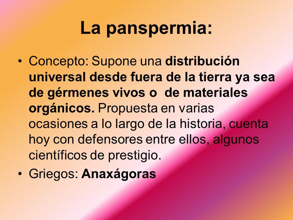La panspermia: