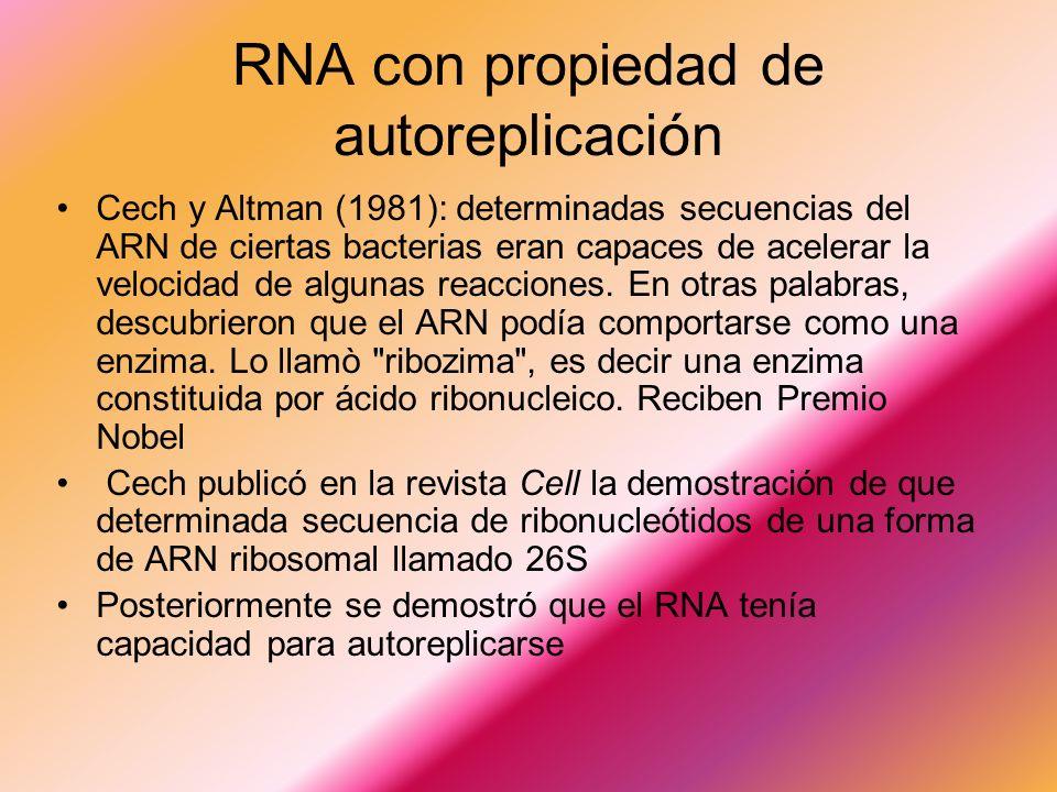RNA con propiedad de autoreplicación