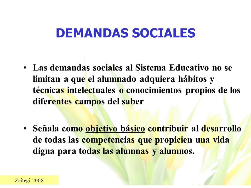 DEMANDAS SOCIALES