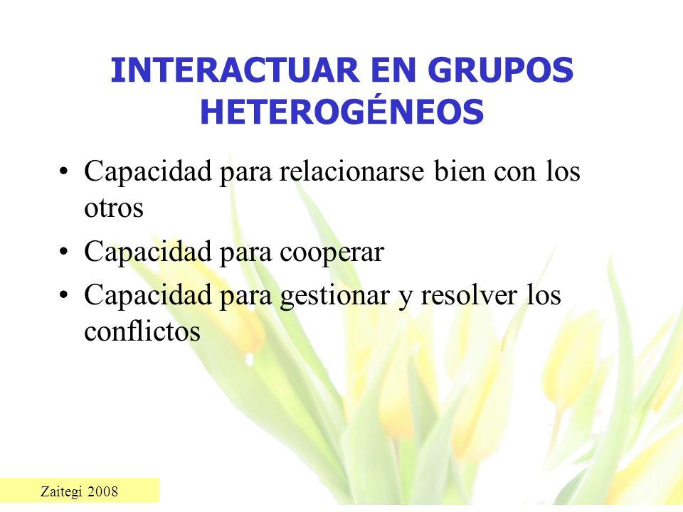 INTERACTUAR EN GRUPOS HETEROGÉNEOS