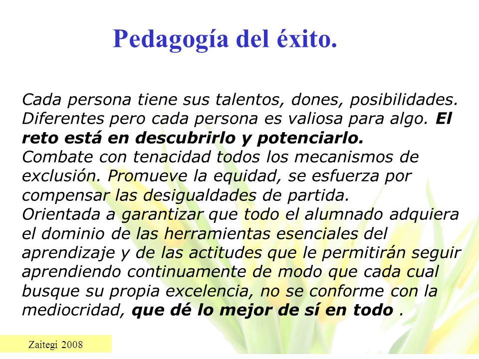 Pedagogía del éxito.