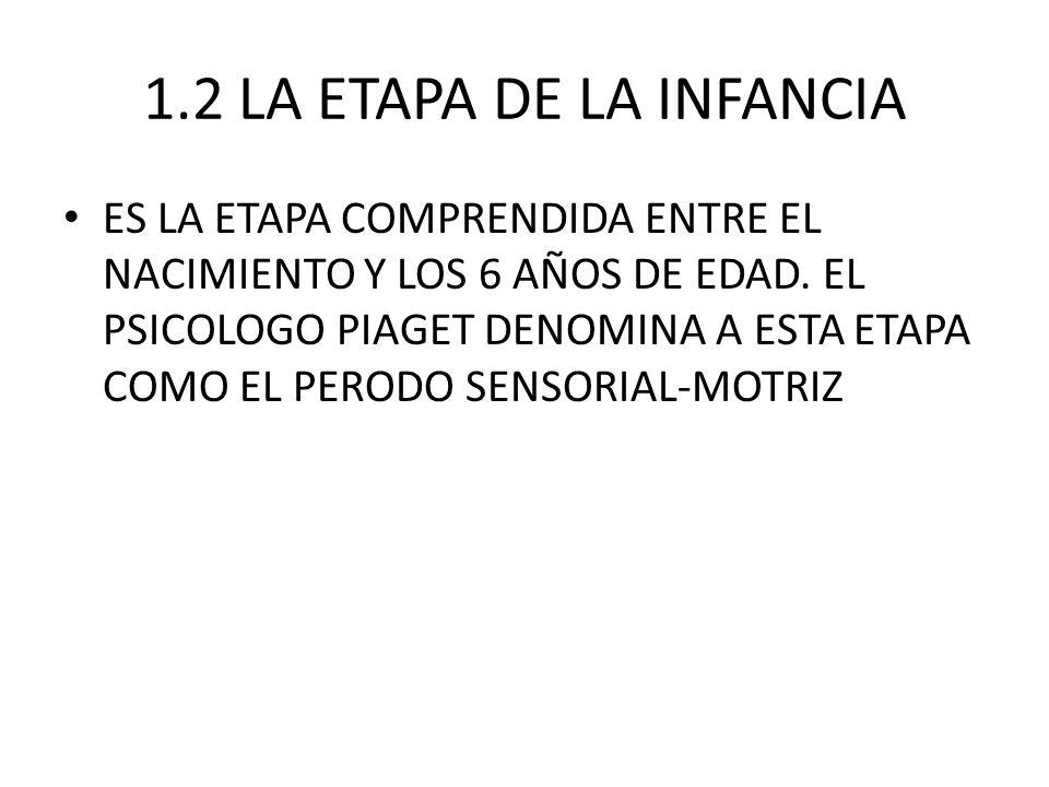 1.2 LA ETAPA DE LA INFANCIA
