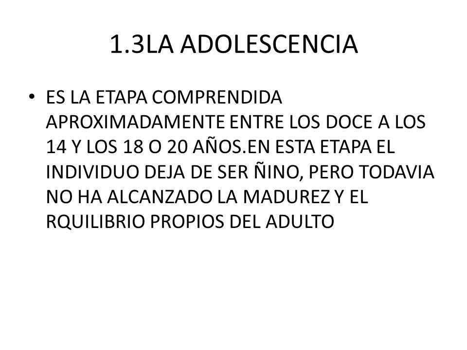 1.3LA ADOLESCENCIA
