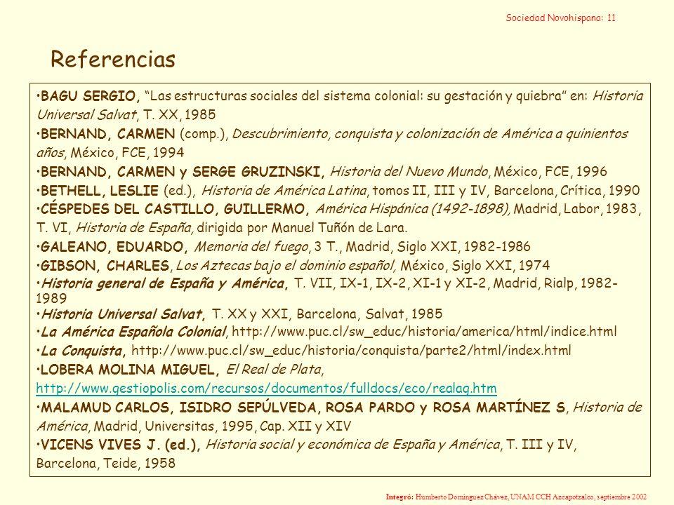 Sociedad Novohispana: 11