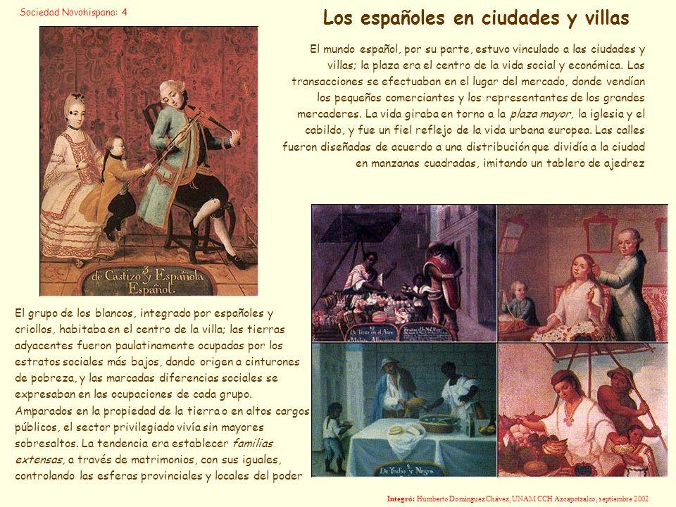 Los españoles en ciudades y villas
