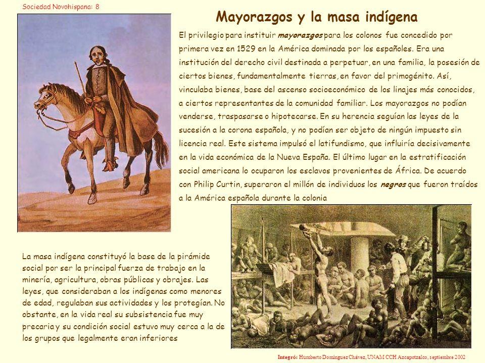 Mayorazgos y la masa indígena